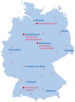 SOKRATHERM Standorte Deutschland