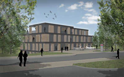 3D view of the new SOKRATHERM building in Hiddenhausen