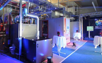Einweihung der 2 x GG 465 BHKW-Anlage im Procter & Gamble Werk Crailsheim.